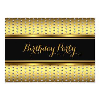 Fiesta de cumpleaños elegante de los remaches de invitaciones personalizada