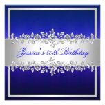 Fiesta de cumpleaños elegante de los rosas de la p invitación personalizada