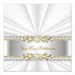 Fiesta de cumpleaños elegante de plata del oro comunicado personal