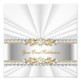 Fiesta de cumpleaños elegante de plata del oro