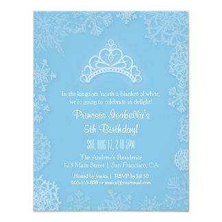 """Fiesta de cumpleaños elegante de princesa Girls de Invitación 4.25"""" X 5.5"""""""