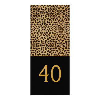 Fiesta de cumpleaños elegante del 40 o leopardo el invitaciones personalizada