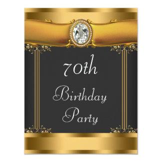 Fiesta de cumpleaños elegante del art déco invitación 10,8 x 13,9 cm