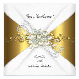 """Fiesta de cumpleaños elegante del diamante de la invitación 5.25"""" x 5.25"""""""