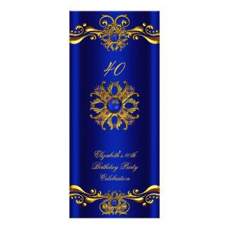Fiesta de cumpleaños elegante del oro de la joya d anuncios personalizados