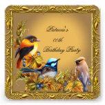 Fiesta de cumpleaños elegante del oro del caramelo invitaciones personales