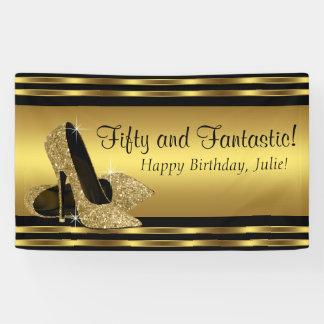 Fiesta de cumpleaños elegante del tacón alto del lona