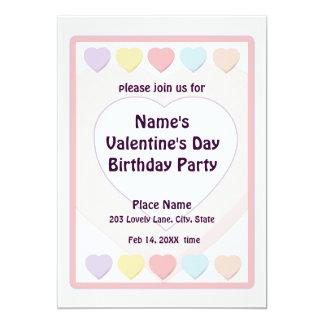 Fiesta de cumpleaños en colores pastel del el día invitación 12,7 x 17,8 cm