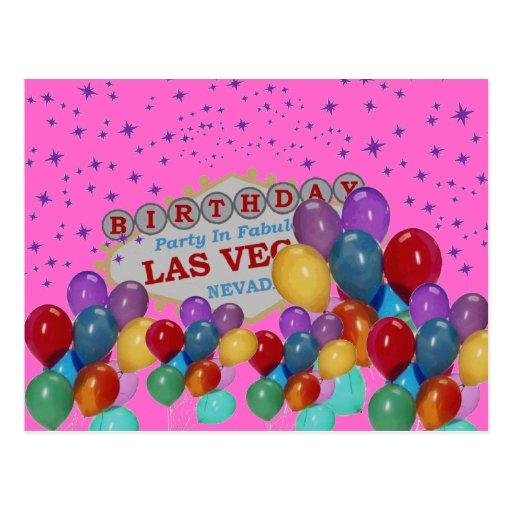 FIESTA de CUMPLEAÑOS en Las Vegas fabuloso, Postal