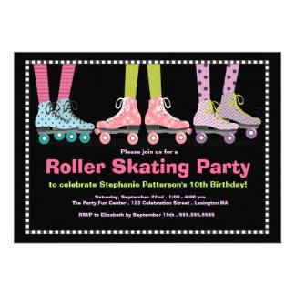 Fiesta de cumpleaños enrrollada del patinaje sobre