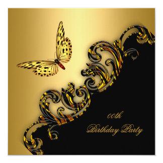 """Fiesta de cumpleaños exótica de la mariposa del invitación 5.25"""" x 5.25"""""""
