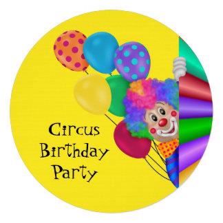 Fiesta de cumpleaños feliz del circo del payaso