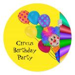 Fiesta de cumpleaños feliz del circo del payaso comunicados