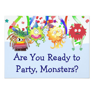 Fiesta de cumpleaños feliz del monstruo