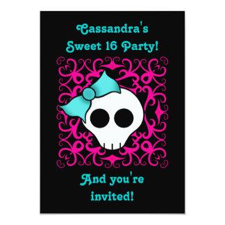 """Fiesta de cumpleaños gótica linda del dulce 16 del invitación 5"""" x 7"""""""