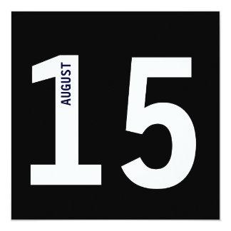 """Fiesta de cumpleaños intrépida moderna del soltero invitación 5.25"""" x 5.25"""""""