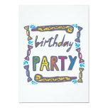 Fiesta de cumpleaños invitación 12,7 x 17,8 cm