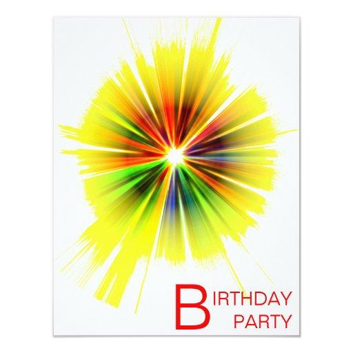 """fiesta de cumpleaños invitación 4.25"""" x 5.5"""""""