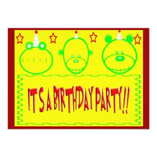 Fiesta de cumpleaños invitaciones personalizada