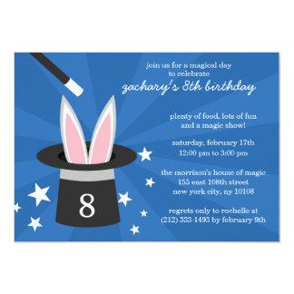 Fiesta de cumpleaños mágica de encargo del conejo comunicado personal
