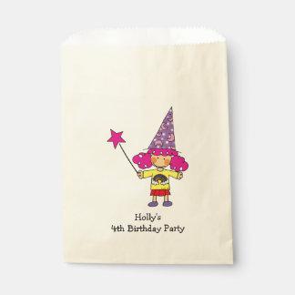 fiesta de cumpleaños mágica del chica de la bolsas de recuerdo