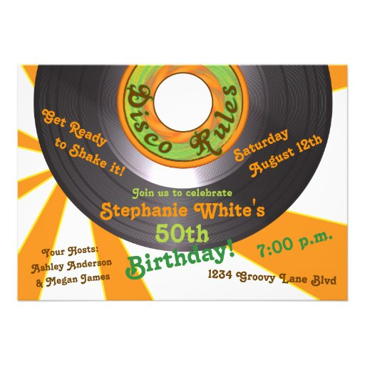 fiesta de cumpleaños maravillosa de 45 expedientes invitación personalizada