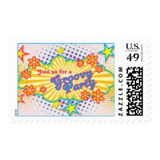 fiesta de cumpleaños maravillosa del flower power sello