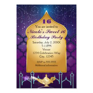 """Fiesta de cumpleaños marroquí mágica de las noches invitación 5"""" x 7"""""""