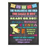 Fiesta de cumpleaños mexicana de la fiesta de la p invitación personalizada