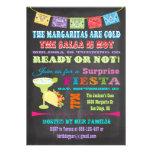 Fiesta de cumpleaños mexicana de la sorpresa de la invitaciones personales