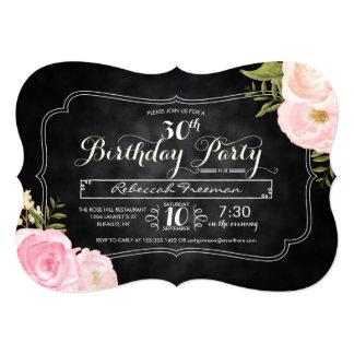 Fiesta de cumpleaños moderna de la pizarra de los invitación 12,7 x 17,8 cm