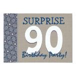Fiesta de cumpleaños moderna de la sorpresa del invitación 12,7 x 17,8 cm