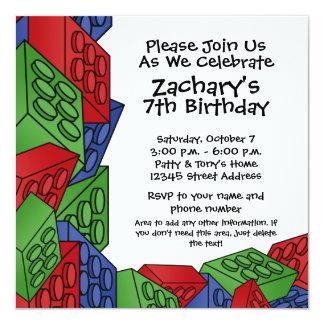 """Fiesta de cumpleaños - muchacho joven invitación 5.25"""" x 5.25"""""""