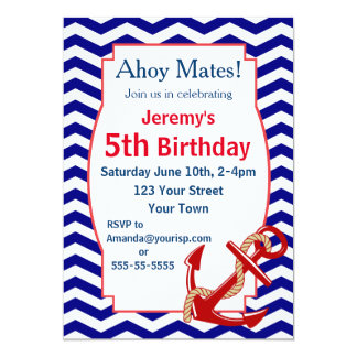 Fiesta de cumpleaños náutica del tema