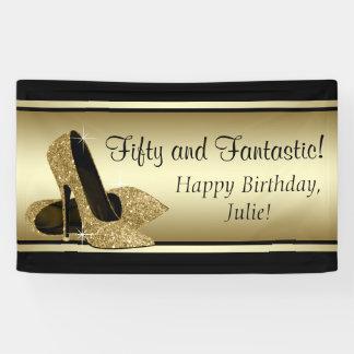 Fiesta de cumpleaños negra del zapato del tacón lona