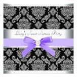 Fiesta de cumpleaños negra púrpura del dulce 16 de comunicado