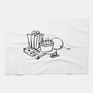 Fiesta de cumpleaños toallas de mano