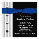 Fiesta de cumpleaños para hombre del negro azul de comunicados personalizados