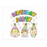 Fiesta de cumpleaños para los niños postal