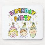 Fiesta de cumpleaños para los niños tapete de ratones