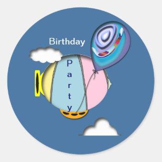 Fiesta de cumpleaños pegatina redonda