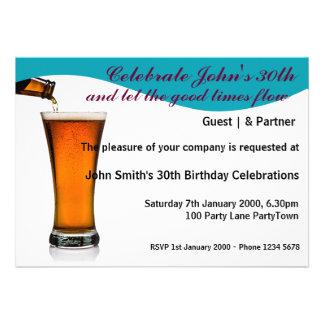 Fiesta de cumpleaños personalizada invitaciones personales