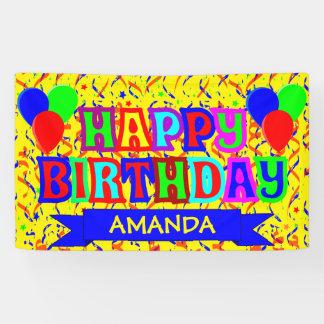 Fiesta de cumpleaños personalizada lona