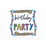 Fiesta de cumpleaños postal