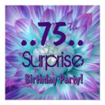 Fiesta de cumpleaños púrpura azul de la sorpresa anuncios personalizados