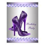 Fiesta de cumpleaños púrpura de los zapatos de los anuncio personalizado