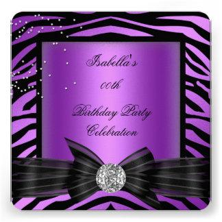 Fiesta de cumpleaños púrpura del arco del diamante anuncio