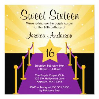 Fiesta de cumpleaños púrpura del dulce 16 de Holly Comunicado Personal