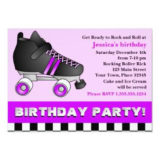 Fiesta de cumpleaños púrpura del patín de ruedas anuncio