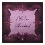 Fiesta de cumpleaños púrpura elegante de Bling y Invitacion Personal
